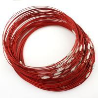 Stahldraht, mit Messing, rot, 14x3mmuff0c1x145mm, Innendurchmesser:ca. 145mm, ca. 100PC/Tasche, verkauft von Tasche