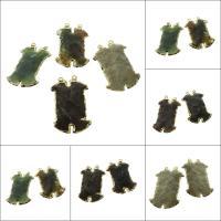Edelstein-Connector, Edelstein, goldfarben plattiert, verschiedenen Materialien für die Wahl & 1/1-Schleife, 38*10*5mm,46*29*7mm, Bohrung:ca. 1.5mm, verkauft von PC
