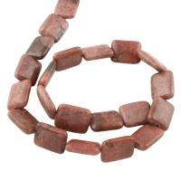 Rhodonit Perlen, Squaredelle, braun, 18x14x5mm, ca. 20PCs/Strang, verkauft per 15 ZollInch Strang