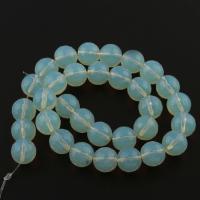 Opal Perlen, rund, blau, 12x11x11mm, Bohrung:ca. 1.5mm, ca. 32PCs/Strang, verkauft von Strang
