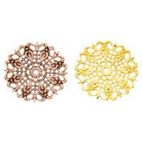 Messing Perlenkappe, plattiert, hohl, keine, frei von Nickel, Blei & Kadmium, 25x1mm, Bohrung:ca. 2mm, 50PCs/Tasche, verkauft von Tasche