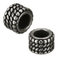 Edelstahl-Perlen mit großem Loch, Edelstahl, originale Farbe, 9x6.50x9mm, Bohrung:ca. 5mm, 10PCs/Menge, verkauft von Menge