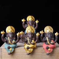 Buddhische Geschenke Dekorationen, Lila Sand, Elephant, handgemacht, buddhistischer Schmuck, keine, 70x40x110mm, verkauft von PC
