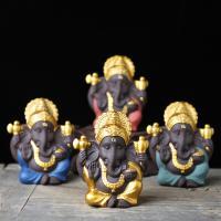 Lila Sand Elefant Dekoration, Elephant, handgemacht, buddhistischer Schmuck, 60x30x75mm, verkauft von PC