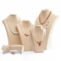 Baumwollsamt Kettenständer, Leinen, mit Papier, verschiedene Größen vorhanden & verschiedene Stile für Wahl, beige, verkauft von PC