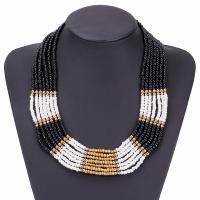 Harz Halskette, mit Seedbead & Zinklegierung, mit Verlängerungskettchen von 7cm, plattiert, für Frau, keine, verkauft per 18.8 ZollInch Strang
