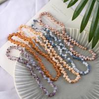 Mode Glasperlen, Glas, rund, plattiert, keine, 6mm, Bohrung:ca. 1mm, 100PCs/Strang, verkauft von Strang