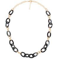 Harz Halskette, mit Zinklegierung, mit Verlängerungskettchen von 7cm, für Frau, keine, verkauft per ca. 28 ZollInch Strang