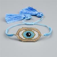 Evil Eye Schmuck Armband, Seedbead, mit Nylon Polypropylen, blöser Blick, einstellbar & für Frau, keine, Länge:ca. 6.3-9.4 ZollInch, 2SträngeStrang/Menge, verkauft von Menge