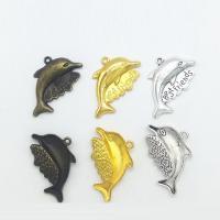 Zinklegierung Tier Anhänger, Dolphin, plattiert, keine, frei von Nickel, Blei & Kadmium, 33x20x3.50mm, 100PCs/Tasche, verkauft von Tasche