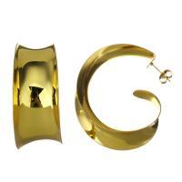 Edelstahl Ohrringe, goldfarben plattiert, für Frau, 18x44mm, 5PaarePärchen/Menge, verkauft von Menge