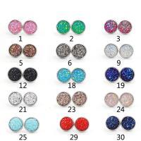 Edelstahl Ohrringe, plattiert, für Frau, keine, 12mm, 10PaarePärchen/Tasche, verkauft von Tasche