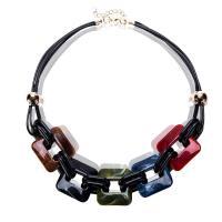 Acryl Halskette, mit Lederband, unisex, keine, 510mm, Länge:ca. 20 ZollInch, verkauft von PC