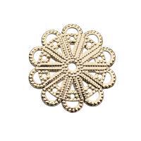 Haarstock-Befunde, Messing, Blume, vergoldet, DIY & hohl, frei von Nickel, Blei & Kadmium, 23mm, 10PCs/Menge, verkauft von Menge