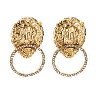 Zinklegierung Ohrringe, Acryl, mit Zinklegierung, Löwe, plattiert, für Frau, keine, frei von Nickel, Blei & Kadmium, 56x33mm, verkauft von Paar