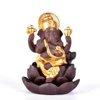 Porcelain Backflow Incense Burner, Lila Sand, keine, 90x90x130mm, verkauft von PC