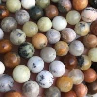 Opal Perle, rund, poliert, DIY & verschiedene Größen vorhanden, gemischte Farben, Länge:ca. 15 ZollInch, 10SträngeStrang/Menge, verkauft von Menge