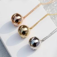 Zinklegierung Medaillon-Halskette, rund, für Frau, keine, frei von Nickel, Blei & Kadmium, 18x18mm, Länge:ca. 15.7 ZollInch, verkauft von Paar