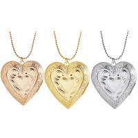 Messing Medaillon-Halskette, Herz, für Frau, keine, frei von Nickel, Blei & Kadmium, 40x42mm, verkauft per ca. 17.7 ZollInch Strang