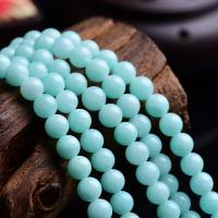 Amazonit Perlen, rund, natürlich, DIY & verschiedene Größen vorhanden, blau, verkauft per ca. 15 ZollInch Strang