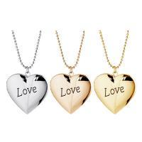 Zinklegierung Medaillon-Halskette, mit Lederband, Herz, verschiedene Stile für Wahl & für Frau, keine, frei von Nickel, Blei & Kadmium, 40cm,35cm, verkauft von Strang