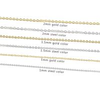 Halskette, Edelstahl, plattiert, unisex & verschiedene Größen vorhanden, keine, 50cm, 10PCs/Strang, verkauft per ca. 19.6 ZollInch Strang