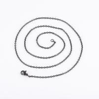 Halskette, Edelstahl, plattiert, unisex & verschiedene Größen vorhanden, schwarz, 2mm, 10SträngeStrang/Tasche, verkauft von Tasche
