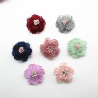 Stoff Haarspange Brosche Würdigung, Blume, plattiert, keine, 40mm, 50/Menge, verkauft von Menge