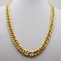 Zinklegierung Halskette, goldfarben plattiert, für den Menschen, frei von Nickel, Blei & Kadmium, 60cm, verkauft von Strang