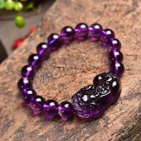 Amethyst Armband, Fabelhaft wildes Tier, poliert, verschiedene Größen vorhanden & für Frau, violett, 32x13x17mm, verkauft von Strang