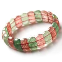 Strawberry Quartz Armband, poliert, für Frau, gemischte Farben, 9x6x16mm, verkauft per ca. 6 ZollInch Strang