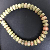 Unakit Perlen, Unakite, poliert, DIY & verschiedene Größen vorhanden, verkauft per ca. 15 ZollInch Strang