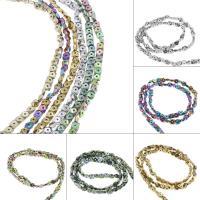 Nicht-magnetische Hämatit Perlen, Non- magnetische Hämatit, plattiert, DIY, keine, 4*2mm, Bohrung:ca. 1mm, 99PC/Strang, verkauft von Strang