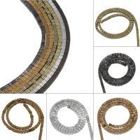 Nicht-magnetische Hämatit Perlen, Non- magnetische Hämatit, plattiert, DIY, keine, 3*3mm, Bohrung:ca. 1mm, 134PC/Strang, verkauft von Strang
