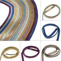 Nicht-magnetische Hämatit Perlen, Non- magnetische Hämatit, plattiert, DIY, keine, 7x3x2mm, Bohrung:ca. 0.5mm, 260PC/Strang, verkauft von Strang