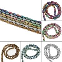 Nicht-magnetische Hämatit Perlen, Non- magnetische Hämatit, plattiert, DIY, keine, 12x5x6mm, Bohrung:ca. 1.2mm, 35PC/Strang, verkauft von Strang