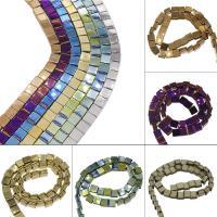 Nicht-magnetische Hämatit Perlen, Non- magnetische Hämatit, plattiert, DIY, keine, 8*5mm, Bohrung:ca. 1.5mm, ca. 52PCs/Strang, verkauft von Strang