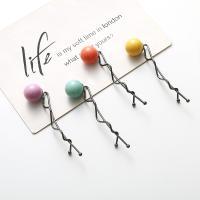Haarschieber, Zinklegierung, mit ABS-Kunststoff-Perlen, plattiert, für Frau, keine, frei von Nickel, Blei & Kadmium, 90mm, verkauft von PC