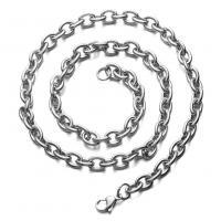 Halskette, Edelstahl, plattiert, unisex, keine, 0.28inch, Länge:19.5 ZollInch, verkauft von PC