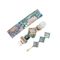 Haarschieber, Zinklegierung, mit Naturstein & Harz, für Frau, frei von Nickel, Blei & Kadmium, 90x20mm, verkauft von setzen