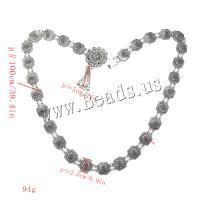 Zinklegierung Taillenkette, für Frau, Silberfarbe, frei von Nickel, Blei & Kadmium, verkauft per ca. 39.4 ZollInch Strang
