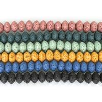 Natürliche Lava Perlen, verschiedene Größen vorhanden, keine, verkauft per ca. 8-20 ZollInch Strang