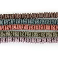 Natürliche Lava Perlen, keine, 10x4mm, Bohrung:ca. 2mm, ca. 48PCs/Strang, 5SträngeStrang/Menge, verkauft per ca. 8 ZollInch Strang