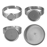 Edelstahl Ringschiene, verschiedene Größen vorhanden, originale Farbe, Bohrung:ca. 1.5mm, Größe:7, 200PCs/Menge, verkauft von Menge