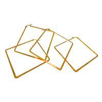 Herren Edelstahl Kreolen, plattiert, verschiedene Größen vorhanden & für Frau, goldfarben, verkauft von Paar