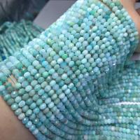 Amazonit Perlen, poliert, DIY & facettierte, blau, 5x3mm, ca. 78PCs/Strang, verkauft per ca. 15 ZollInch Strang