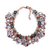 Kristall Zinklegierung Halskette, mit Kristall, plattiert, für Frau, keine, frei von Nickel, Blei & Kadmium, 430mm, verkauft per ca. 19.6 Strang