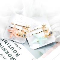 Haarschieber, Zinklegierung, mit Harz & Kunststoff Perlen & Acryl, für Frau, keine, frei von Nickel, Blei & Kadmium, 60x42mm, verkauft von Paar