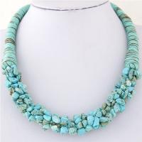 Naturstein Halskette, mit Nylon, für Frau, keine, 400mm, verkauft per ca. 15.7 ZollInch Strang
