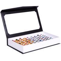 Karton Ringkasten, mit Baumwollsamt, Rechteck, keine, 255x145x40mm, 10PCs/Menge, verkauft von Menge